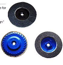Nylon Backing Pad Flap Disc, with 5/8-11'' & M14 thread